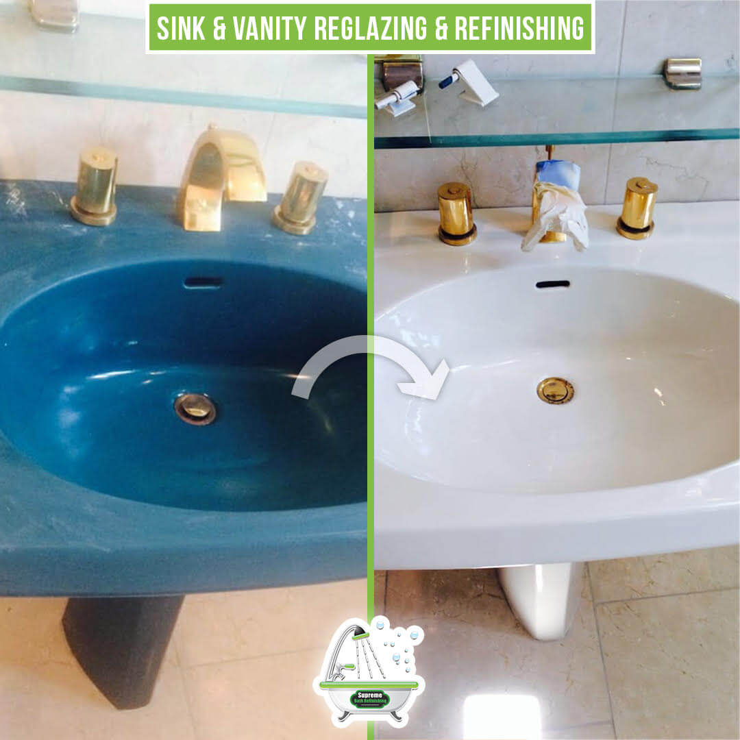 Sink Amp Vanity Reglazing Supreme Bath Refinishing